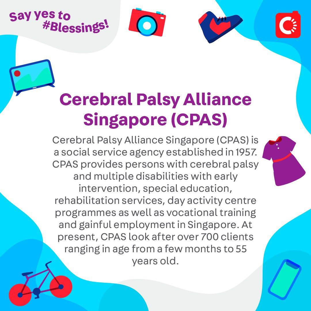 Cerebral Palsy Alliance Singapore (CPAS) is looking for...