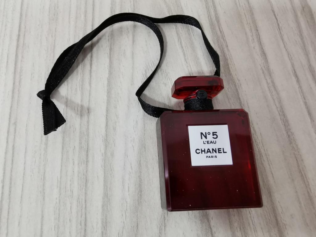 CHANEL ~N5 L'EAU CHANEL PARIS CHARM ~ RED EDITION Paper Bag & Paper Tag Set