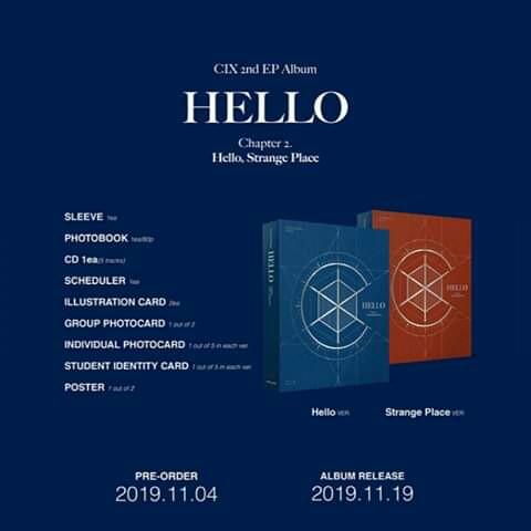 CIX - EP Album Vol.2 [HELLO Chapter 2. Hello, Strange Place]