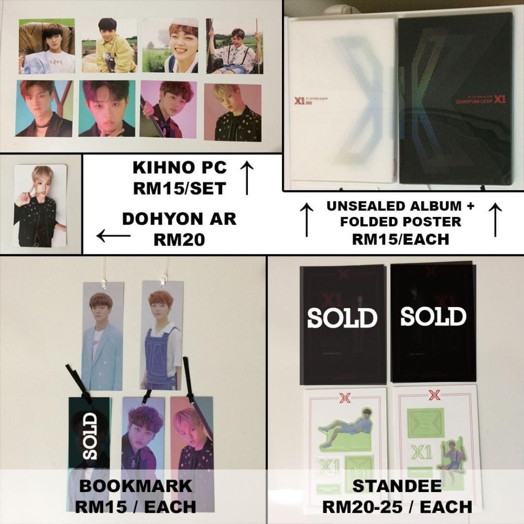 [CLEARANCE] X1 Debut Album (비상 / Quantum Leap)- AR Photocard, Bookmark, Standee, Kihno PC