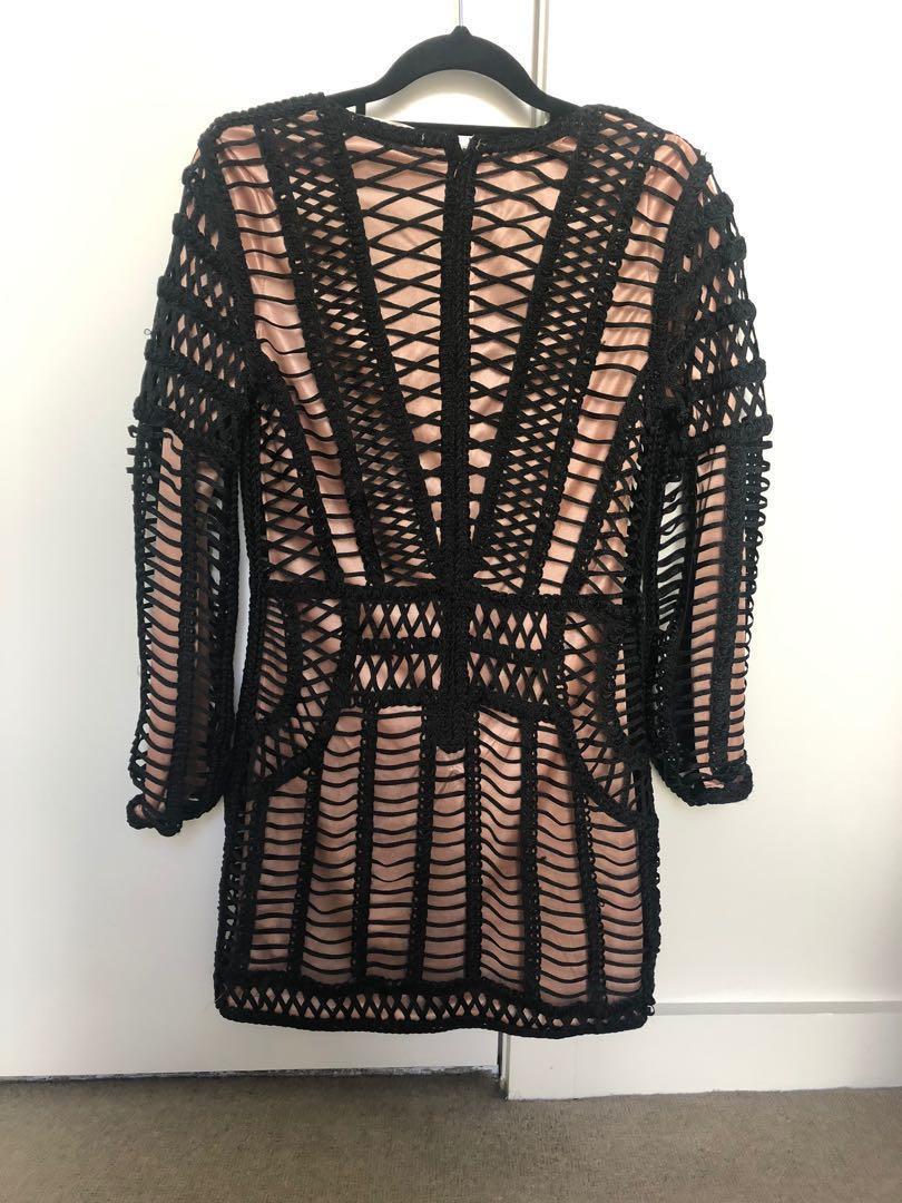 Eliya the label - Baxter mini dress - AW 17 - XS - black/nude