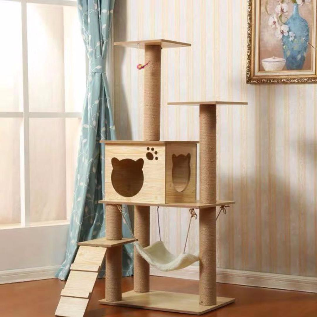 [FREE SHIPPING]140cm Single Plywood Cat Condo