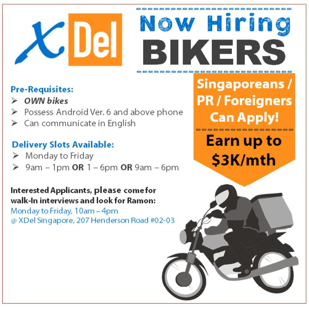 Full/ Part-Time Delivery Bikers