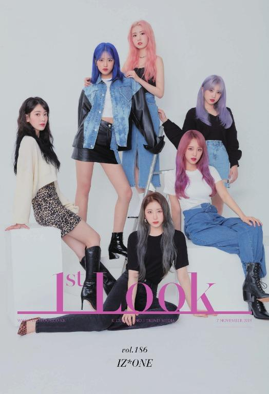 [GO] 1st LOOK 186 issue IZ*ONE [Front & Back Cover]