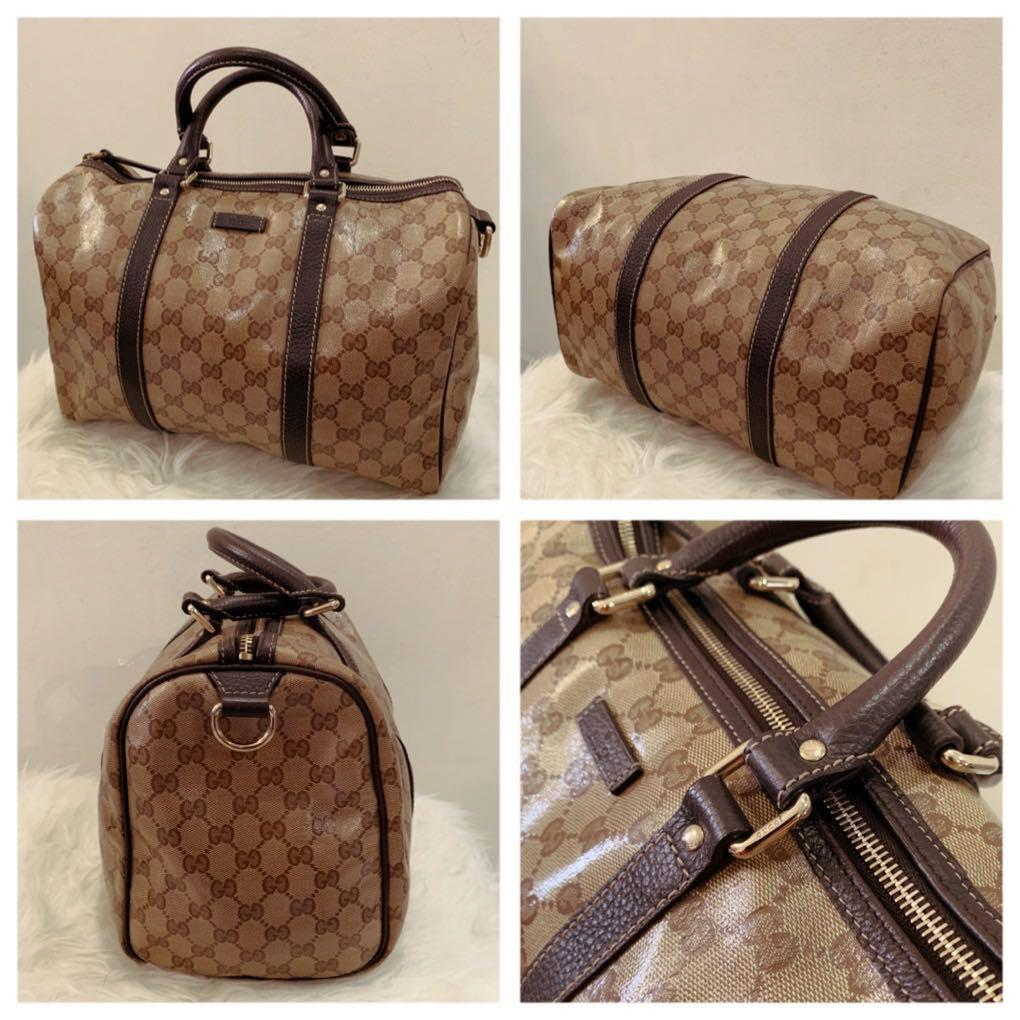 GUCCI COATED GG GUCCISSIMA BOSTON BAG GUCCI CRYSTAL COATED