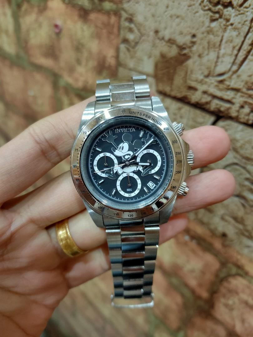 Invicta Original Full set Mickey Mouse Limited Edition Quartz Chronograph Steel Box