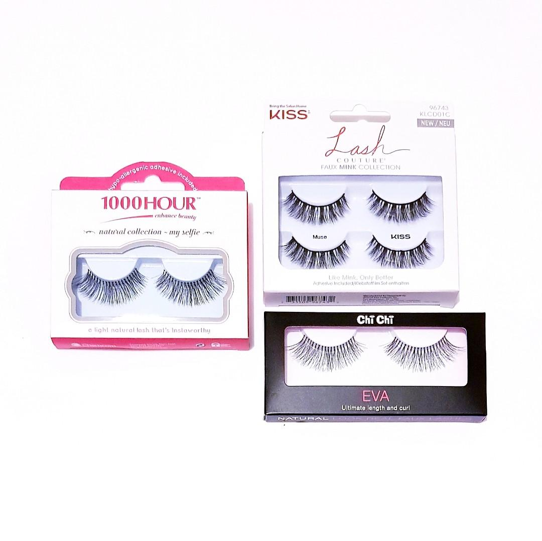 Kiss Lash Couture Bring The Salon Home Faux Mink Collection Muse Knot Free False Lashes Adhesive Fake Eyelashes