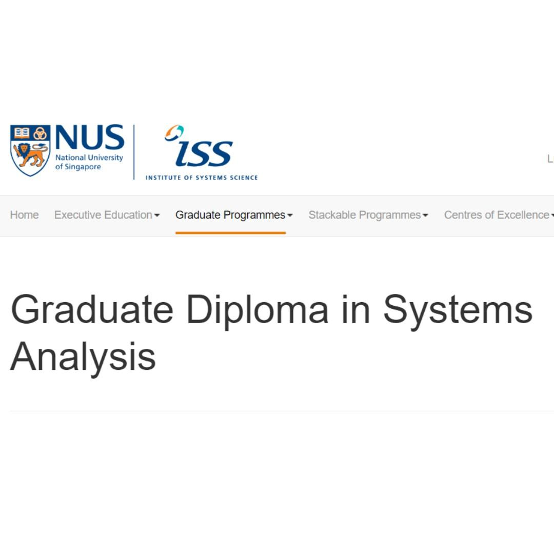 LF TUTOR NUS Graduate Diploma in Systems Analysis GDipSA Programming Tutor