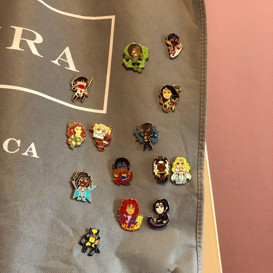 Marvel/DC Enamel Pins