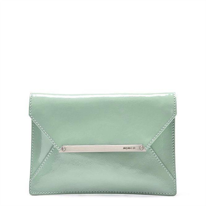 MIMCO| Envelope Clutch Pouch Wallet Turquoise/Aqua