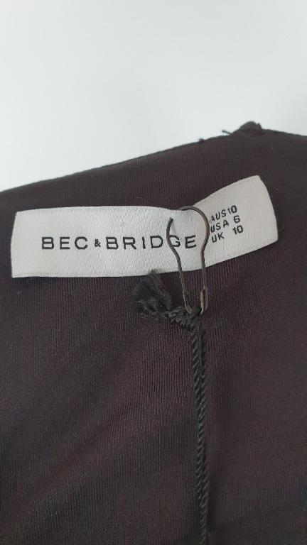 NEW Bec and Bridge Ahoy Crop size 10 RRP 140 Navy, Stretchy, Zip, Thin Straps