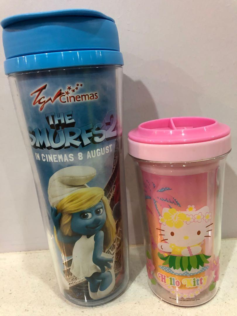One water tumble and one water mug with cover