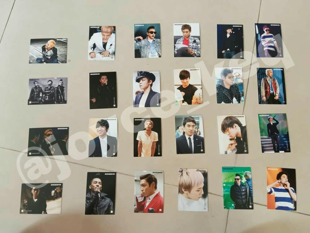 [Ready Stock] Bigbang Official Collection Photocards