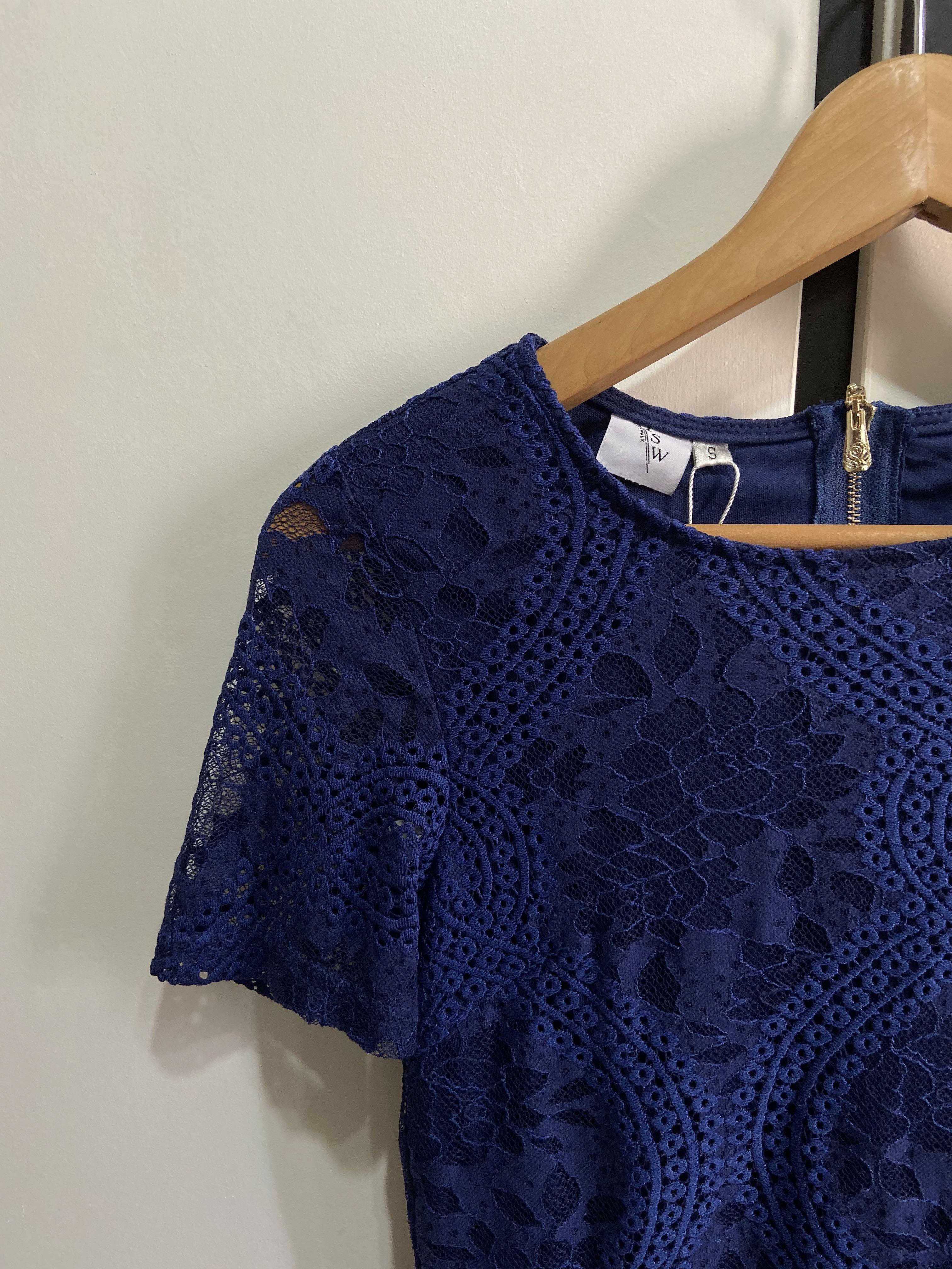 BNWT Royal Blue Lace Dress TSW