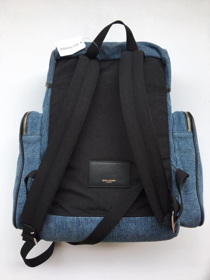SAINT LAURENT DENIM & LEATHER BACKPACK - BRAND NEW WITH TAGS!