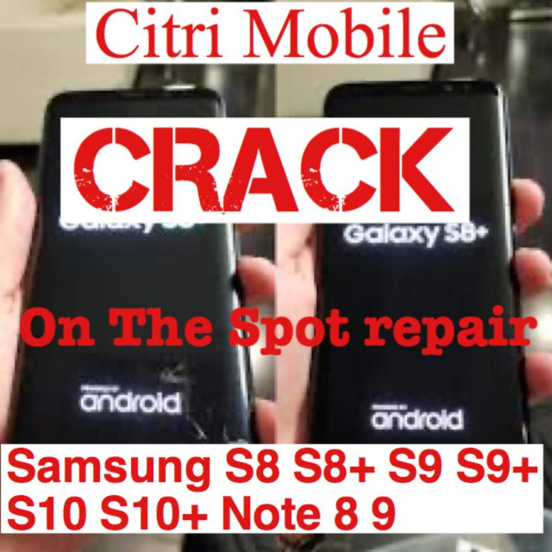 Samsung S8 S9 S9+ S10 Note 8 9 iPhone Battery Screen Repair