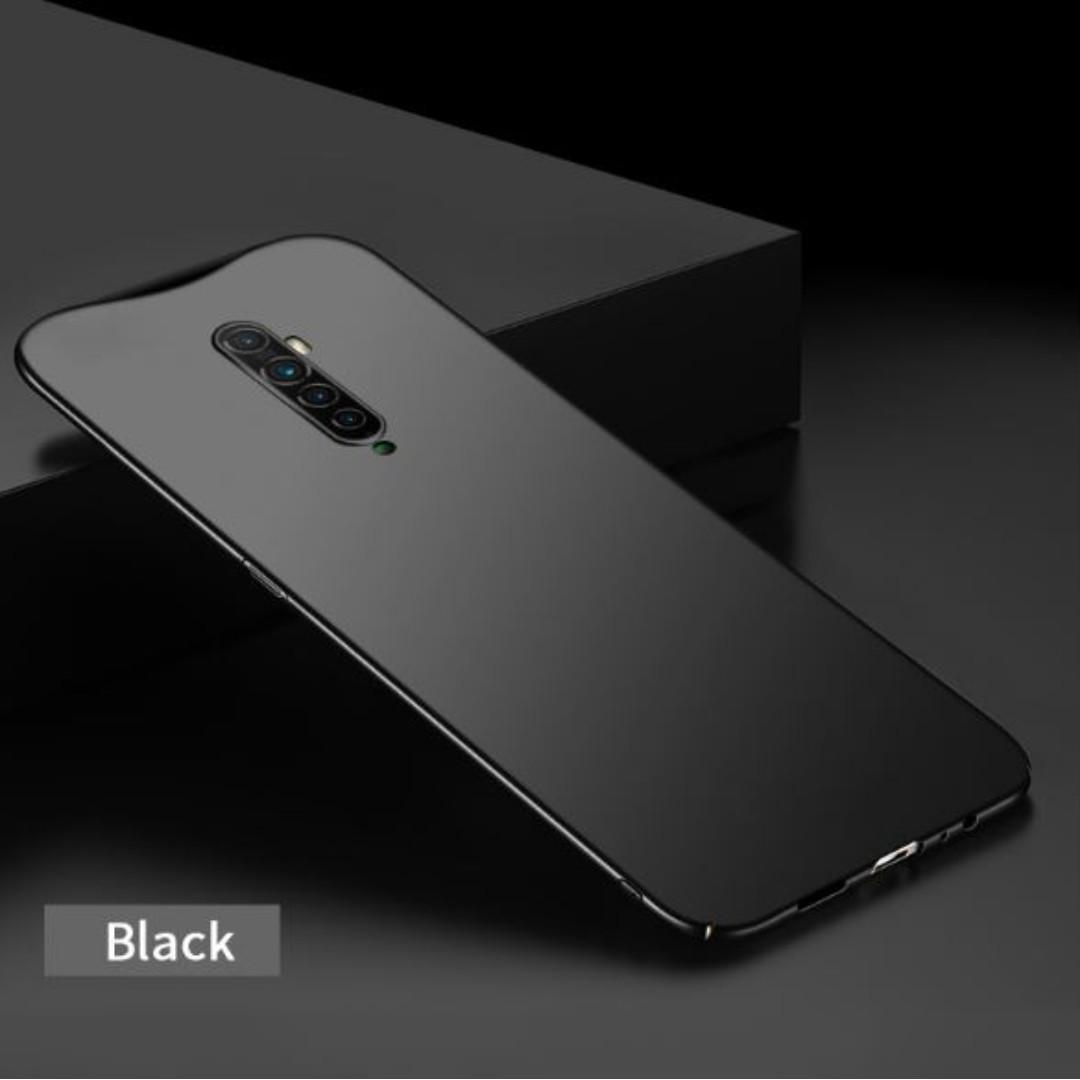 Slim Matte Full Cover PC Hard Case Oppo Reno 2  (Black)