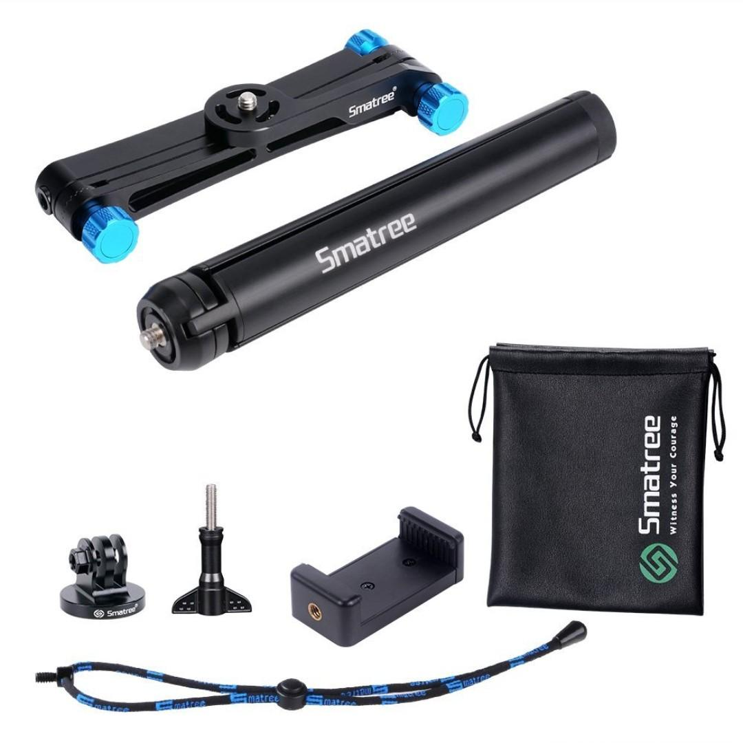 Smatree Smapole X1S with Tripod and Phone Holder for Gopro DJI Action Camera Smartphone ( Blue / Red )