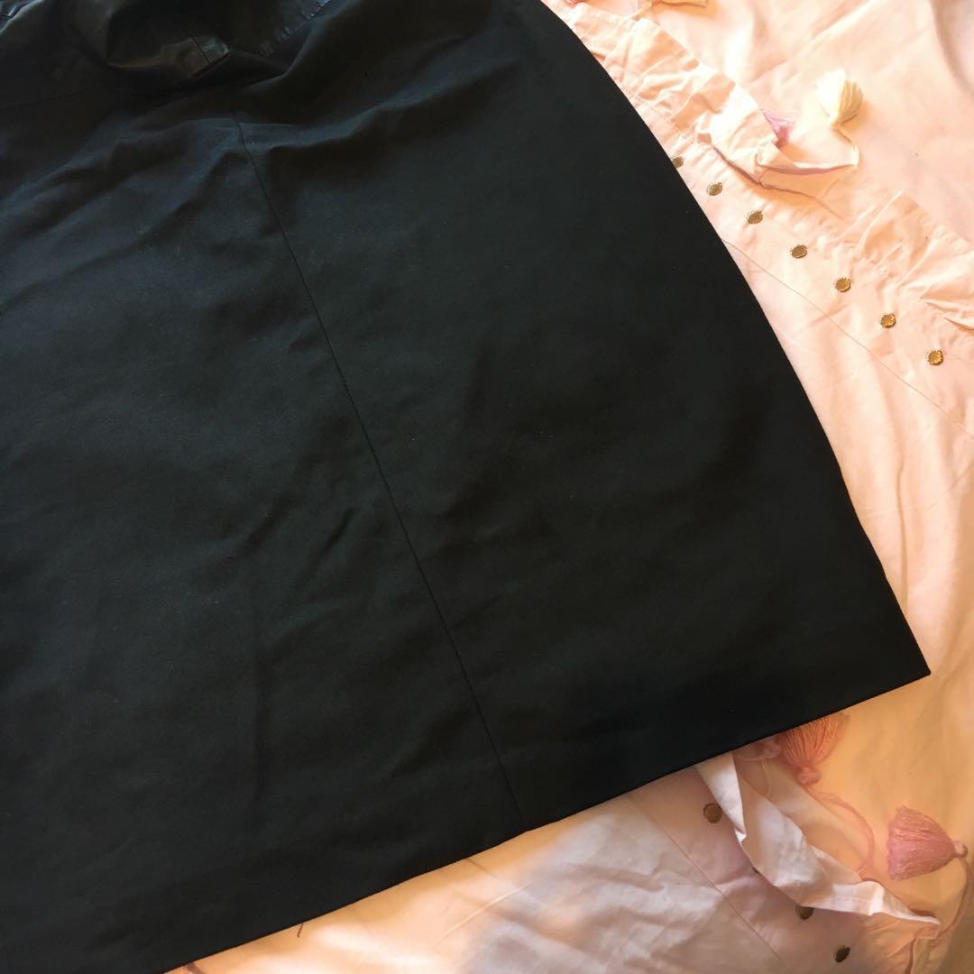 Stunning Black Vegan Faux Leather Dress   Size Medium   Brand: Zara