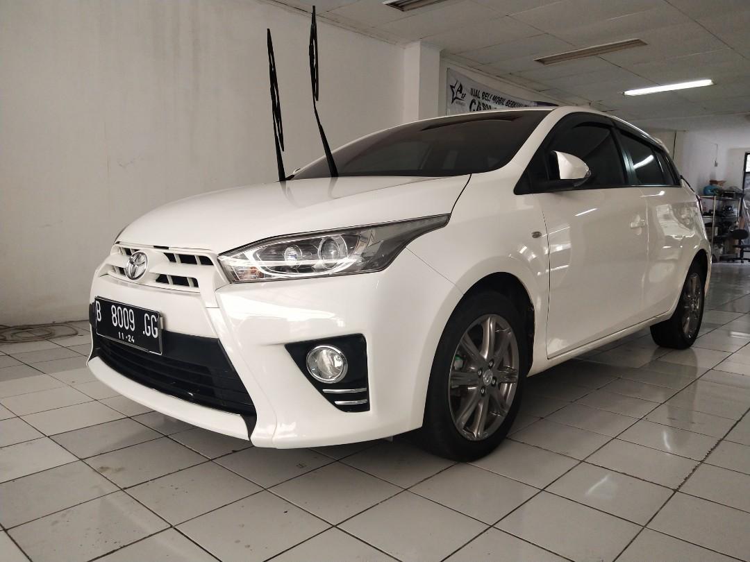 Toyota new Yaris 1.5 G at putih nan cantik kredit pun bisa