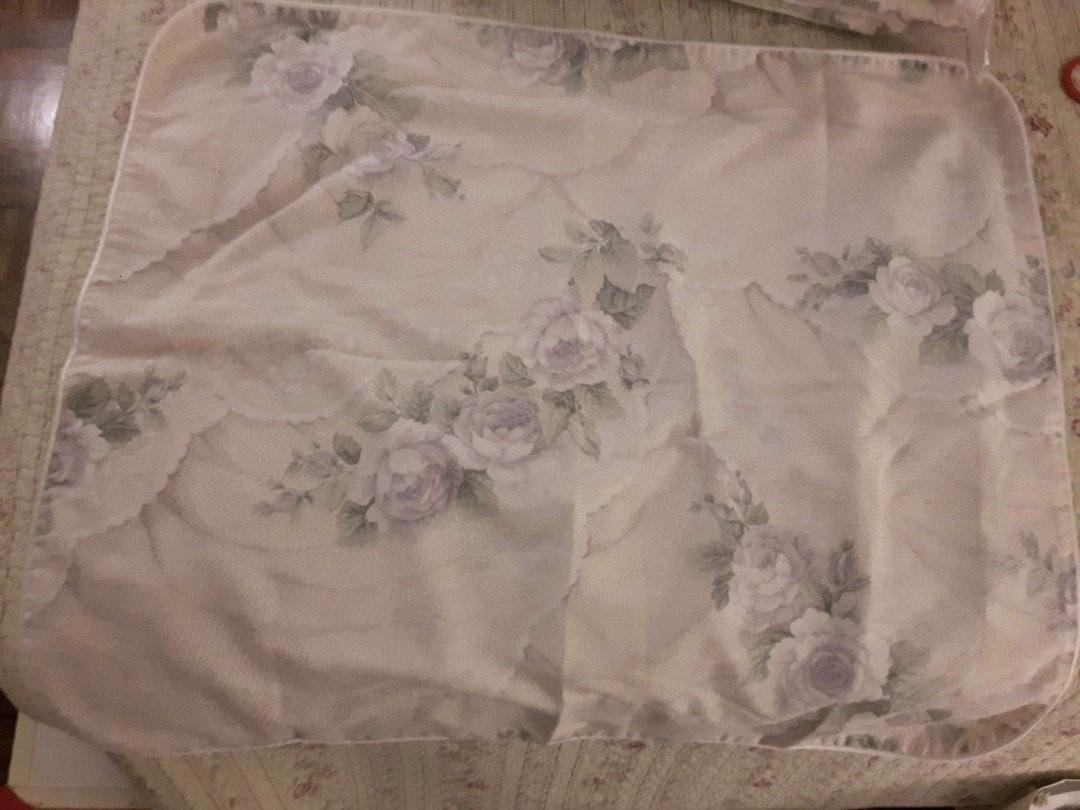 TWIN BED COMFORTER W PILLOW CASE FLORAL LAVENDER AND BEIGE TONES from The Bay Medium Thick