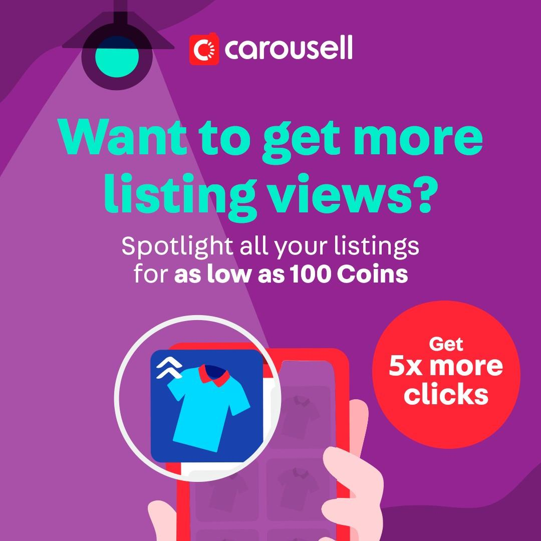 Want to get more listing views? Try Spotlight for as low as 100 coins!