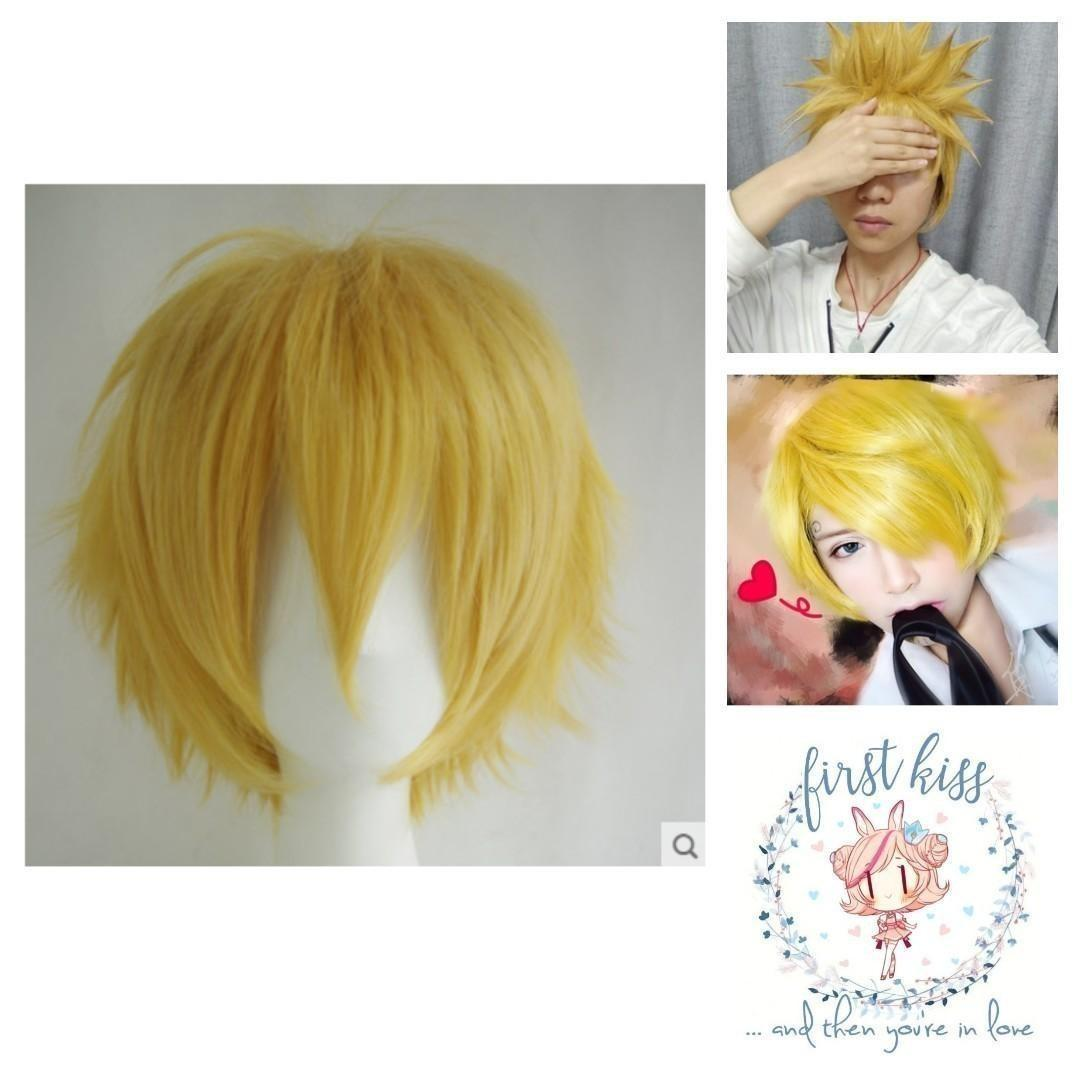 Wig - Yellow/Blonde (Short)
