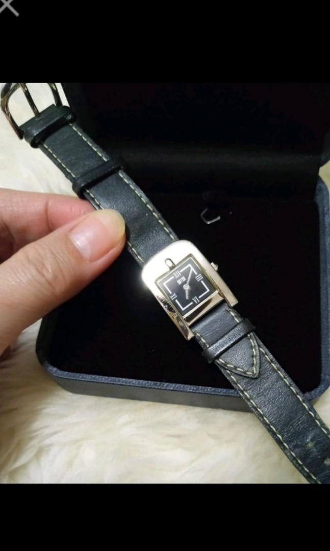 🍀生活工廠workinghouse 黑色不銹鋼淑女薄型腕錶