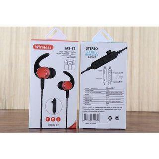 MS-T3磁吸+插卡  運動無線耳機重低音入耳式耳麥