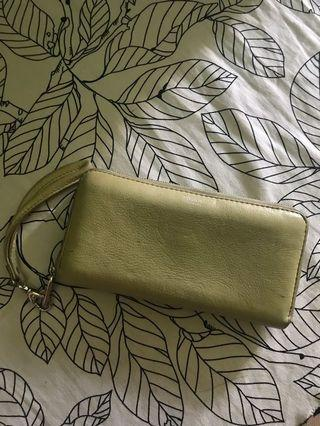 Fossil green lime sydney wallet