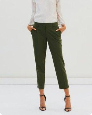 Uniqlo ankle pants green