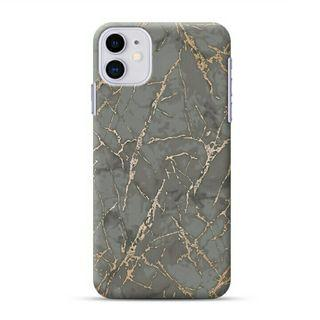 Gold Vein Grown Marble iPhone 11 Custom Hard Case