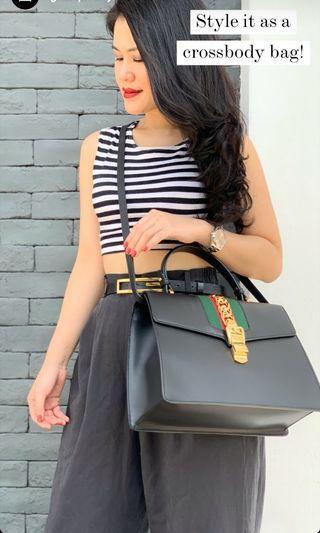 preloved authentic Gucci sylvie top handle medium bag