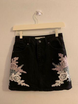 Topshop MOTO Demin Skirt (Size 4)