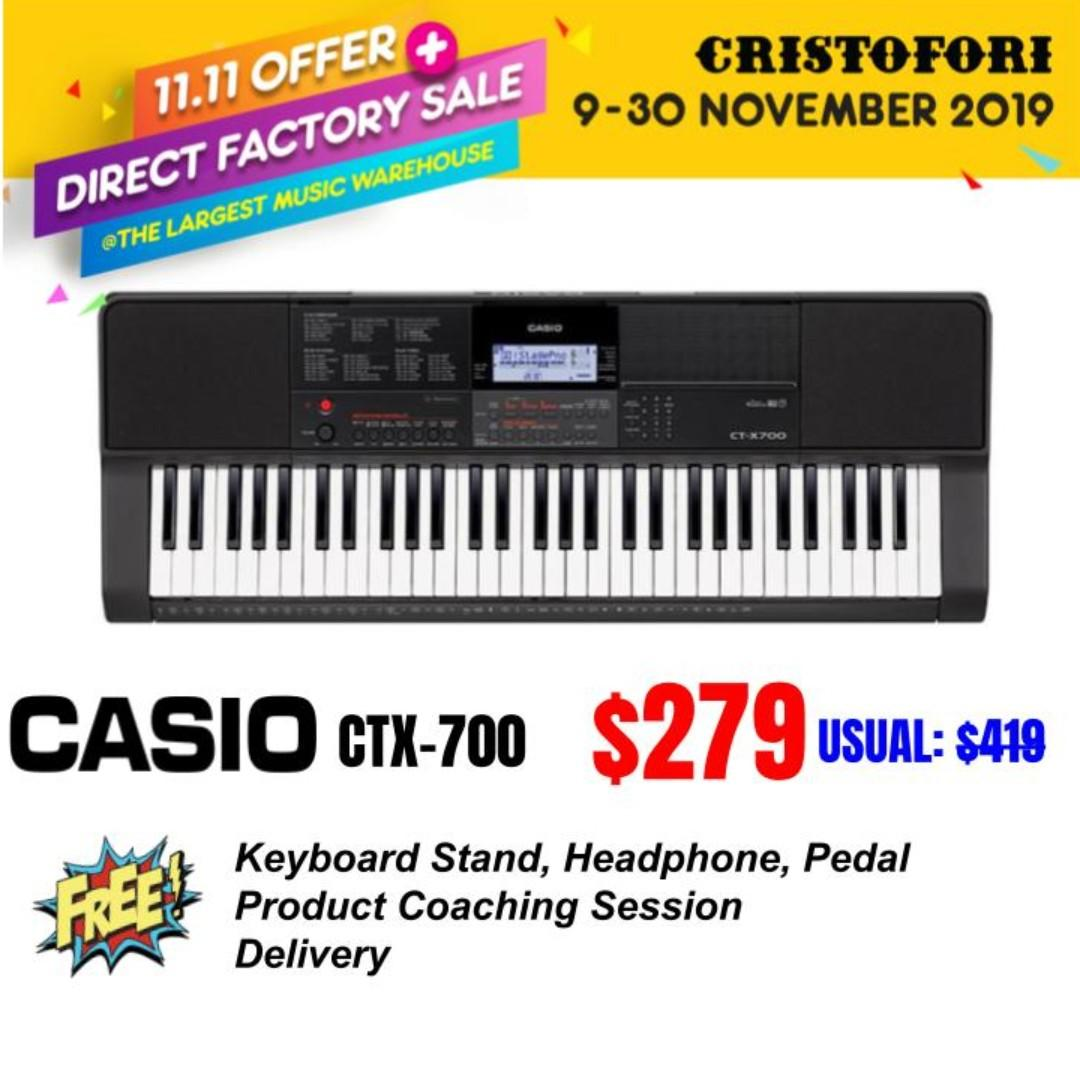 (BRAND NEW) Casio CT-X700 – 61 Key Keyboard Arranger