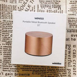 MINISO 金屬攜帶型藍芽喇叭 玫瑰金🌹