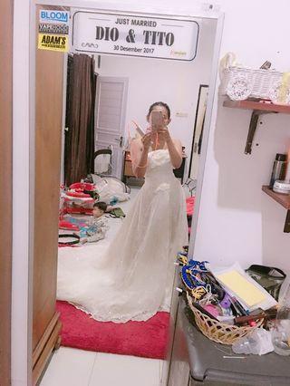Wedding dress putih panjang