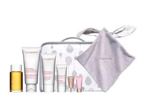 Clarins 8 Pcs Set - Stretch Mark Control Cream 200ml / Tonic Body Treatment Oil 100ml