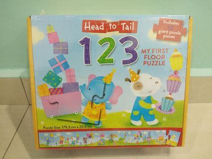 12pcs Giant Puzzle - Head to Tails 123