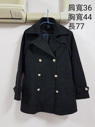 深灰黑色大衣