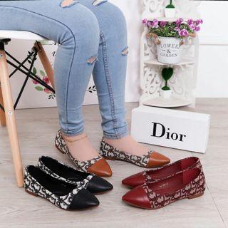 Dior oblique flat shoes