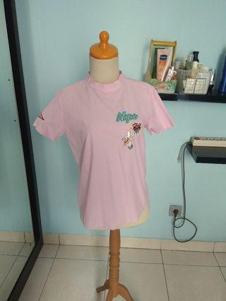 Pink patch katun with knot