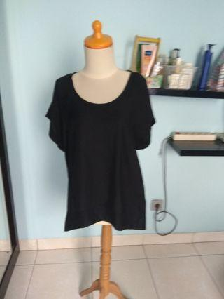 Cotton on loose black long top