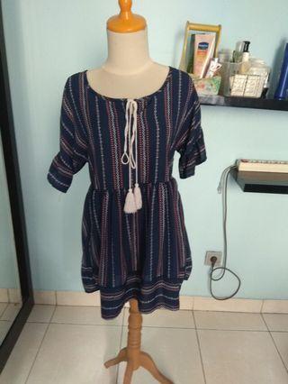 Boho mini dress