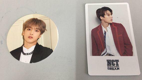Nct dream jeno pob & haechan circle card