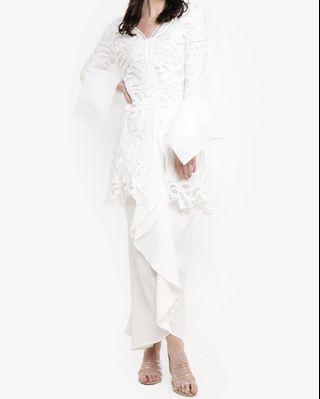 Lace Kebaya with Cascading Sleeves Set [RENT]