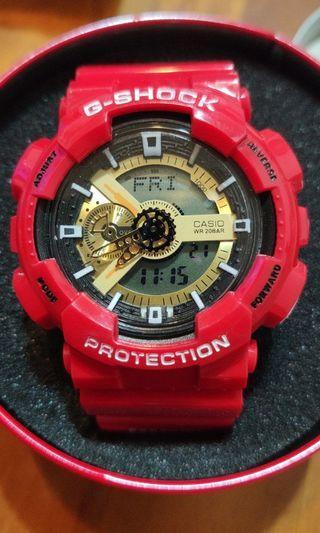 卡西歐 CASIO G-SHOCK GA-110系列 卡西歐手錶 防水運動電子錶 鋼鐵人款
