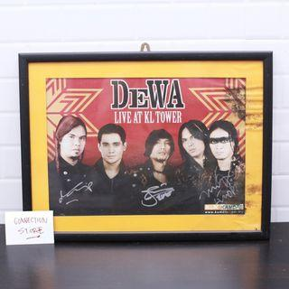 DEWA Band Poster with Artist Signature