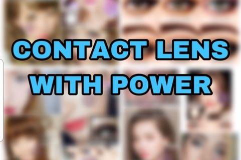 Contact lens with power