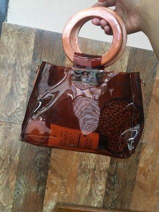Clear bag/ tas transparant / hand bag / sling bag
